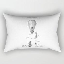patent art Edison 1892 Incandescent electric lamp Rectangular Pillow