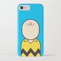 charlie brown iPhone & iPod Cases featuring Charlie by Ale Giorgini