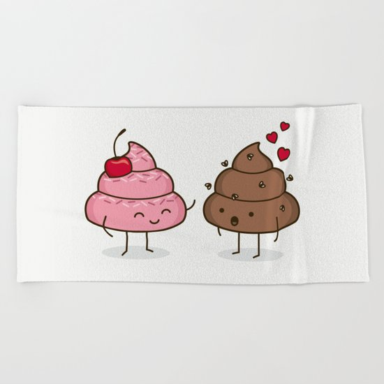 Love Sucks - Cute Doodles Beach Towel