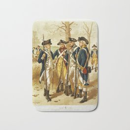 Infantry: Continental Army 1779-1783 by H.A. Ogden (1879) Bath Mat