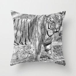 Malayan Tiger (Harimau) Throw Pillow