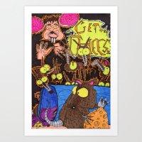 Get the cheezzzzzzz Art Print