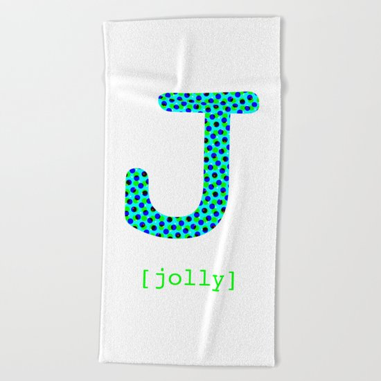 #J [jolly] Beach Towel