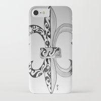 fleur de lis iPhone & iPod Cases featuring Fleur De Lis - Drawing by neena