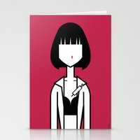 mia wallace Stationery Cards featuring Mia by Ale Giorgini