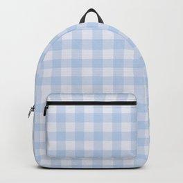 Gingham Pattern - Blue Backpack