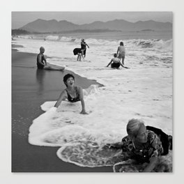 Bathing Woman in Vietnam - analog Canvas Print