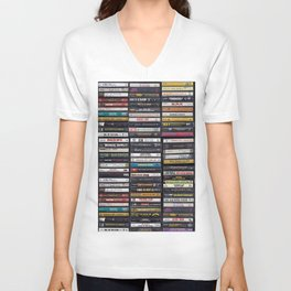 Old 80's & 90's Hip Hop Tapes Unisex V-Ausschnitt