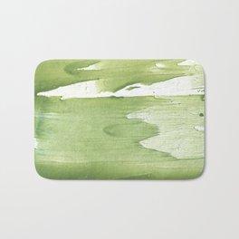 Green khaki clouded wash drawing texture Bath Mat