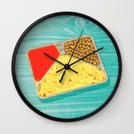 TV dinner to go go in green Wall Clock