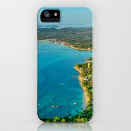 Tropical Seaside City iPhone Case