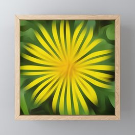 Abstracted yellow daisy Framed Mini Art Print