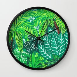 Jungle Trees Wall Clock