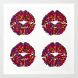 SEALED WITH 4 KISSES Art Print