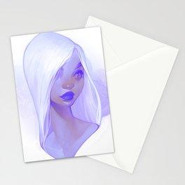 visage - lilac Stationery Cards