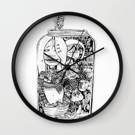 Loud, Jarred Listen Wall Clock