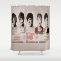 one direction Shower Curtains featuring One Direction by store2u