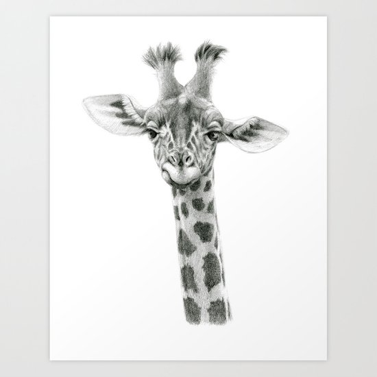 Young Giraffe  G2012-053 Art Print