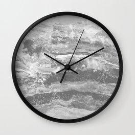 Real Gray Marble Wall Clock