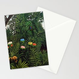 Jungle with Tiger and Hunters by Henri Rousseau Stationery Cards
