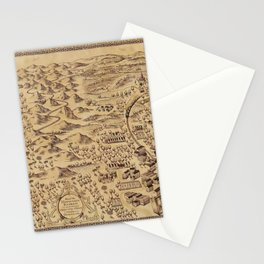 Magic Map Stationery Cards