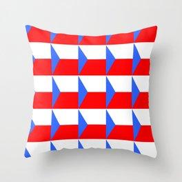 flag of Czech 3 -Czechia,Česko,Bohemia,Moravia, Silesia,Prague. Throw Pillow