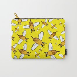 Bees pattern in yellow Carry-All Pouch