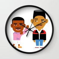 fresh prince Wall Clocks featuring The Fresh Prince (Version 2) by Evan Gaskin