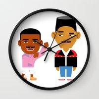 fresh prince Wall Clocks featuring The Fresh Prince (Version 2) by Evan Gaskin