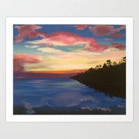 Almost Sunset  Art Print