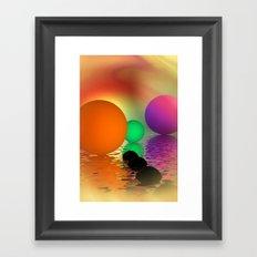 do you like orange - portrait format Framed Art Print