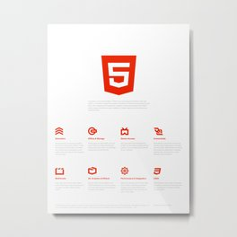 HTML5 Brand Launch Metal Print