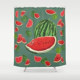 Watermelon Delight Shower Curtain