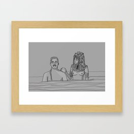 The royal penis is clean, your Highness. Framed Art Print