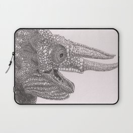 Happy Chameleon (pen and ink) Laptop Sleeve
