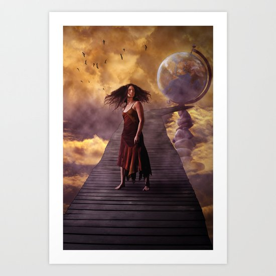 At worlds end Art Print