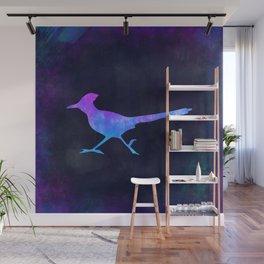 ROADRUNNER IN SPACE // Animal Graphic Art // Watercolor Canvas Painting // Modern Minimal Cute Wall Mural