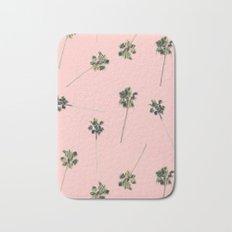 Palms on Pink Bath Mat