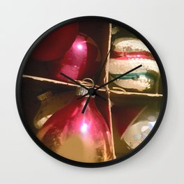 Christmas Cardboard Window #Christmas #vintage #society6 Wall Clock