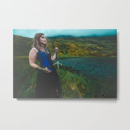 Lady & The Loch Metal Print
