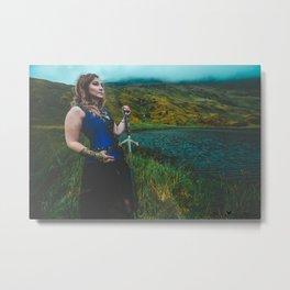 Lady & The Loch Metal Print
