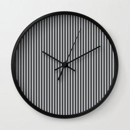 Dark Shadow Stripes Wall Clock