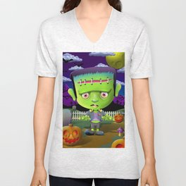 Little Frankie Unisex V-Neck