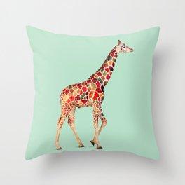 COLORED GIRAFFE Throw Pillow