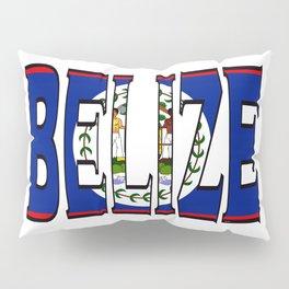 Belize Font with Belizean Flag Pillow Sham