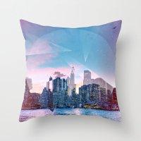manhattan Throw Pillows featuring Manhattan by Esco