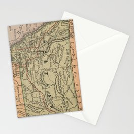 Vintage Map of Montana (1885) Stationery Cards