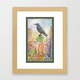 Bird on the Flower / Graja y Bejeque Framed Art Print