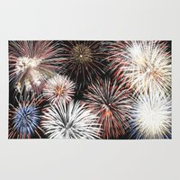 fireworks Area & Throw Rugs featuring Fireworks by Urlaub Photography