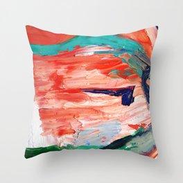Cycladic Face Throw Pillow
